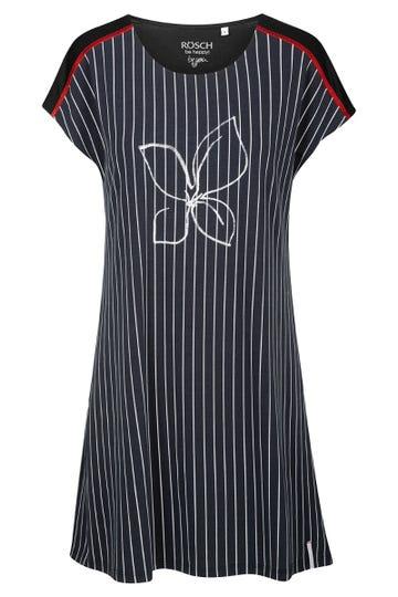 Sleepshirt im Streifenprint Frontmotiv Baumwolle/Elasthan 1212000