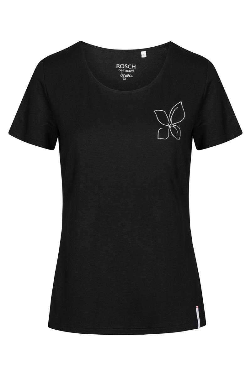 T-Shirt mit Printmotiv Flower Viskose/Elasthan 1212002