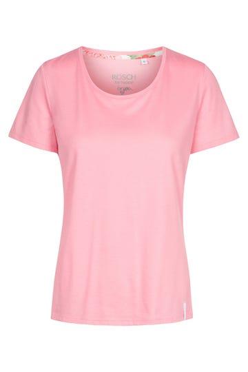 Basic T-Shirt in Pink klassisch Baumwolle/Modal 1212011