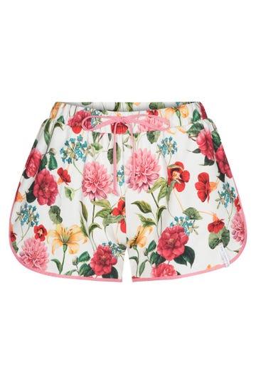 Shorts im sommerlichen Blumenprint fröhlich sportiv kurze Hose Baumwolle/Elasthan 1212013