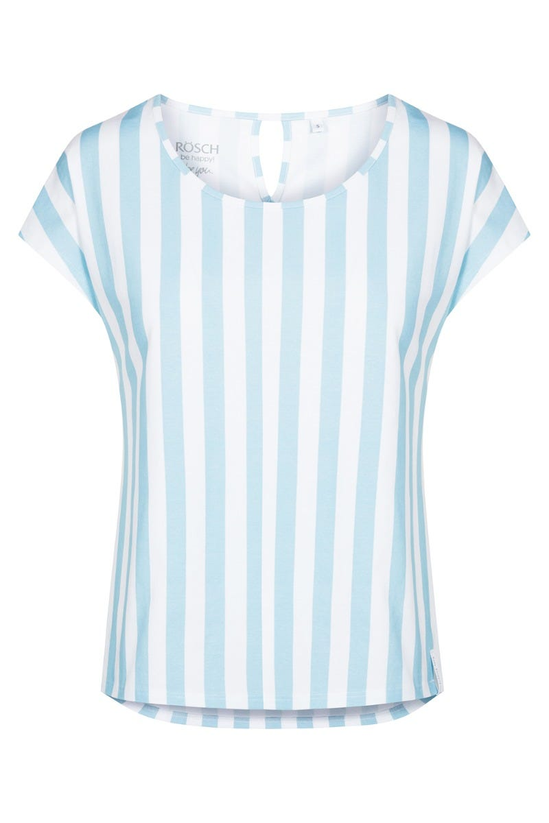 T-Shirt im maritimen Streifenprint gestreift nautical Baumwolle/Elasthan 1212032
