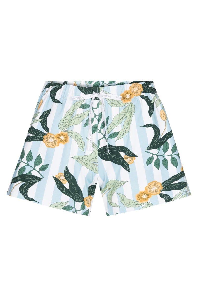Shorts im Mustermix Streifen Blätter Flower sommerlich kurze Hose Baumwolle/Elasthan 1212034