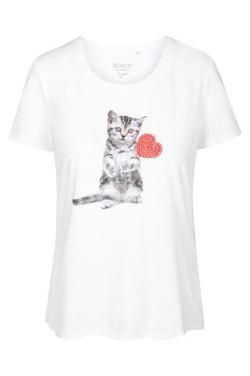 T-Shirt mit Motivdruck Kitten Baumwolle/Elasthan 1212041