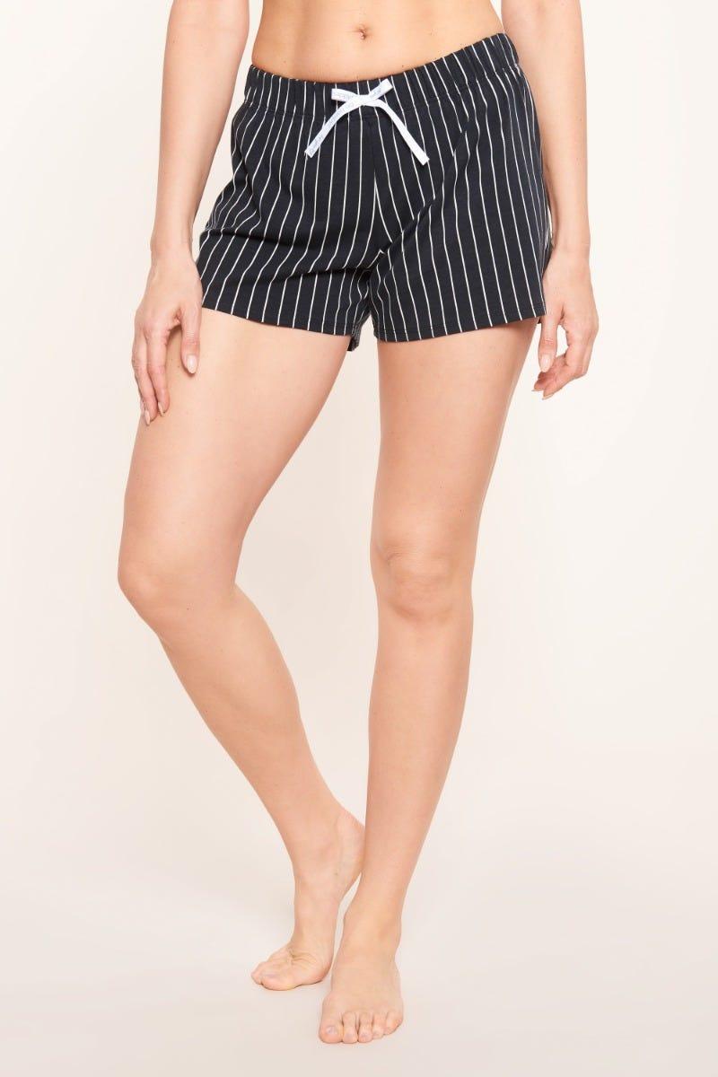 Shorts im Streifenprint Nadelzug Baumwolle/Elasthan 1212042