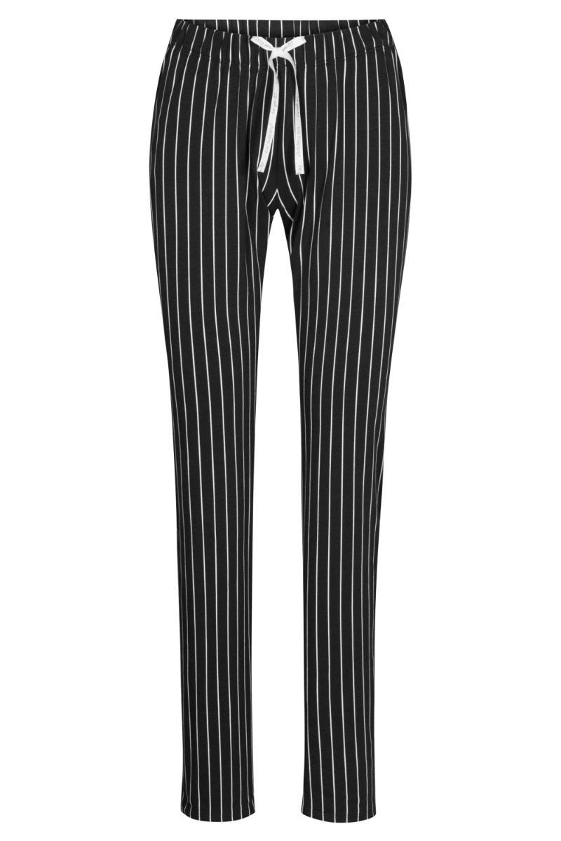 Pyjamahose im Streifenprint Nadelzug Baumwolle/Elasthan 1212043