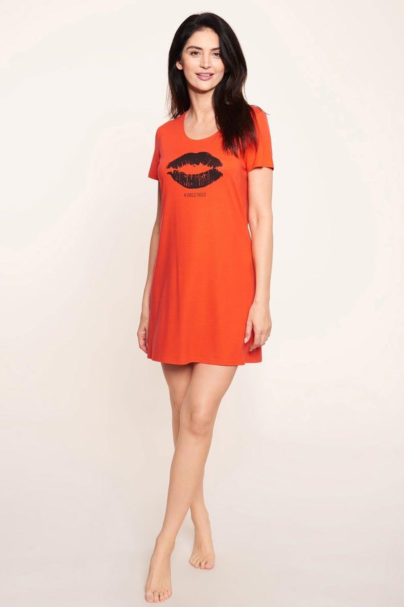 Bigshirt mit Motivdruck Sweet Kiss Viskose/Elasthan 1212044