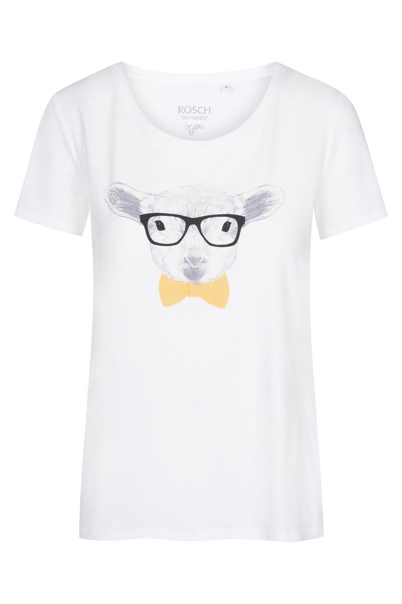 T-Shirt mit Motivdruck Schaf Osterkollektion Baumwolle/Elasthan 1212052