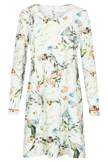 Bigshirt im verspielten Blütendruck romantisch Baumwolle/Elasthan