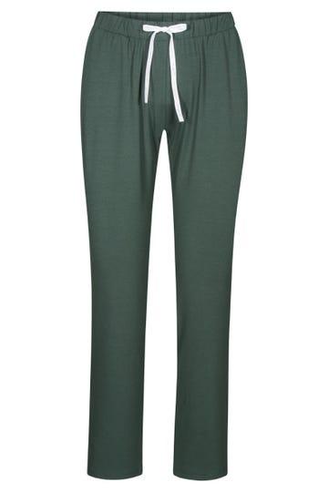 Basic 7/8-Hose in Grün Pyjamahose Viskose/Elasthan