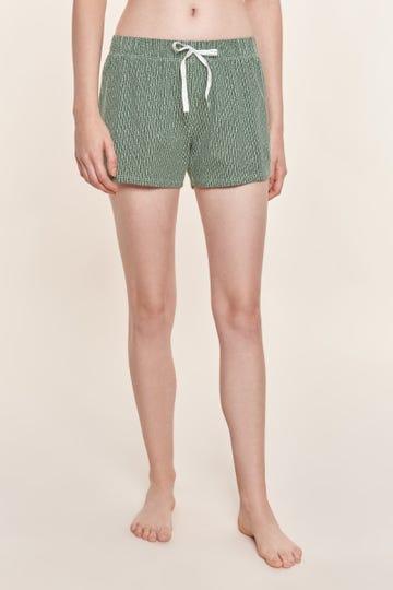Shorts im Minimalprint Strickoptik grafisch Baumwolle/Elasthan