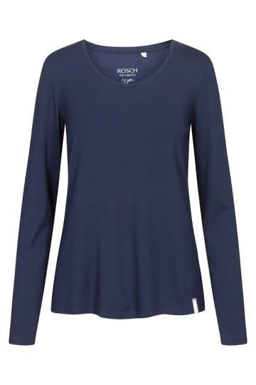Basic Langarmshirt in Navyblau Mix & Match Baumwolle/Elasthan