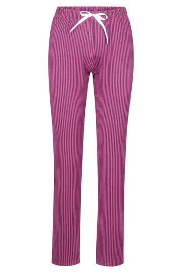 Pyjamahose lang im Streifenprint Kirsche Mix & Match Baumwolle/Elasthan