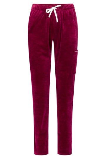 Nicki-Loungehose mit Ziernähten Kirschfarben Jogginghose Mix & Match Baumwolle/ Polyester