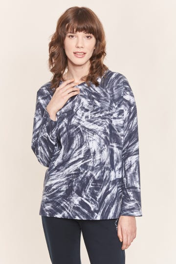 Langarm-Sweatshirt im Artprint Baumwolle/Elasthan Rösch thx