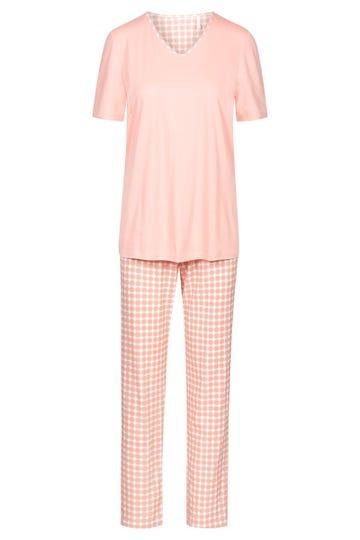 Pyjama mit Punktedruck Retro-Style grafisch 100% Baumwolle 1213020