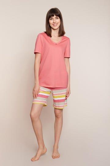 Pyjama mit Ringelprint im Retro-Style Ringeldruck 100% Baumwolle 1213024
