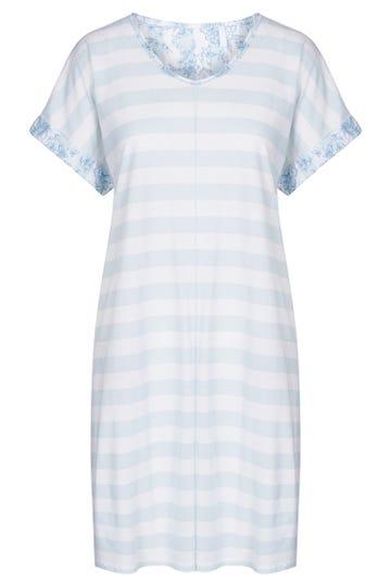 Bigshirt im Ringelprint pastellfarben gestreift 100% Baumwolle 1213052