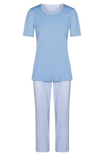 Pyjama im Karodruck Vichy kariert 100% Baumwolle 1213057