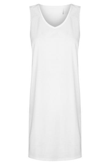 Bigshirt mit Spitzendetails Sommer All White romantisch Baumwolle 1213072