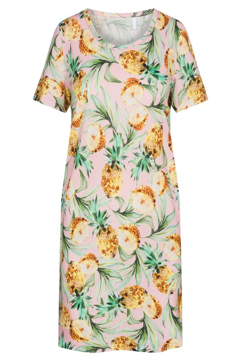 Bigshirt im Ananasprint sommerlich exotisch fruchtig Baumwolle/Modal 1213077