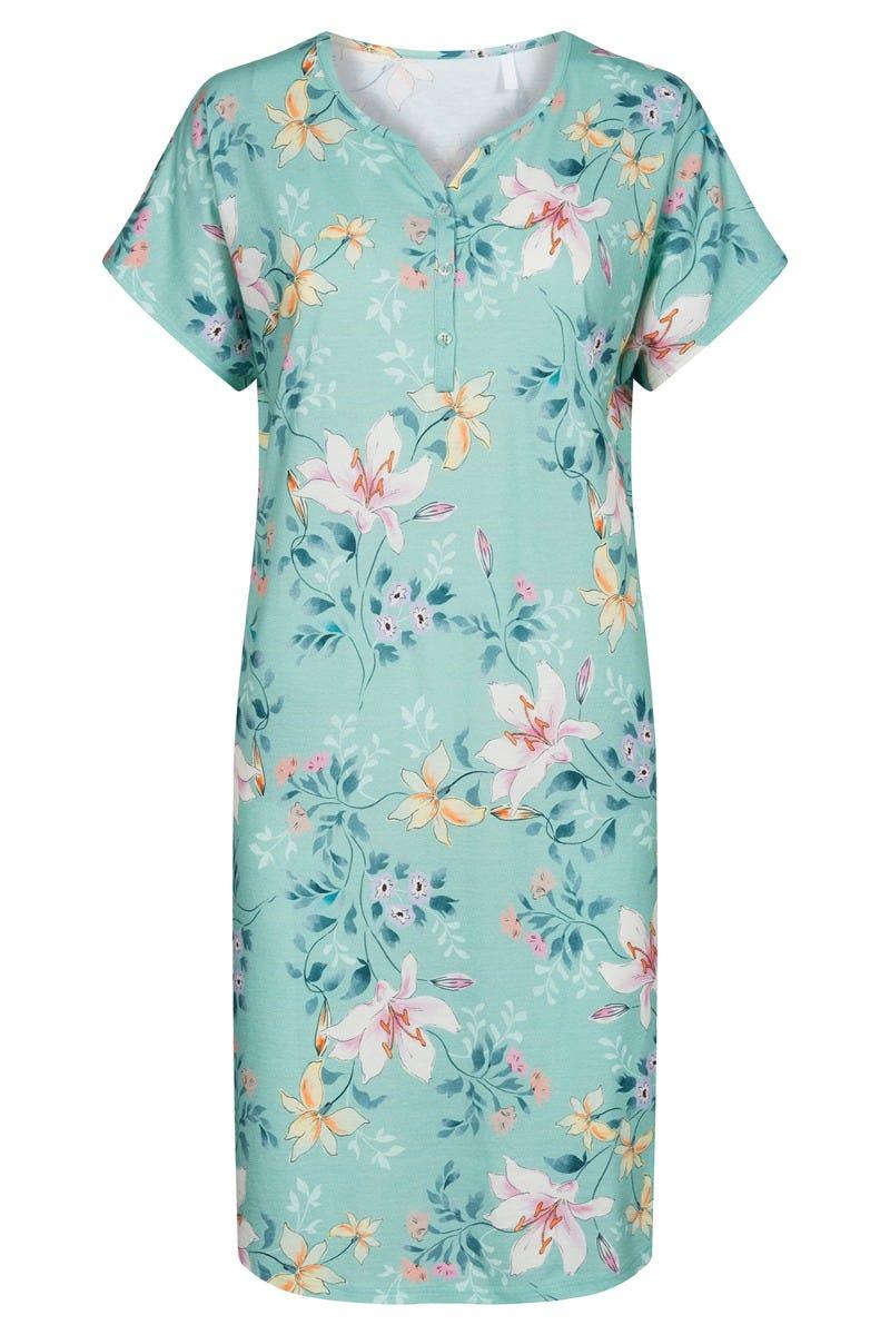 Bigshirt im Blumendessin Allover geblümt sommerlich Baumwolle/Modal 1213082