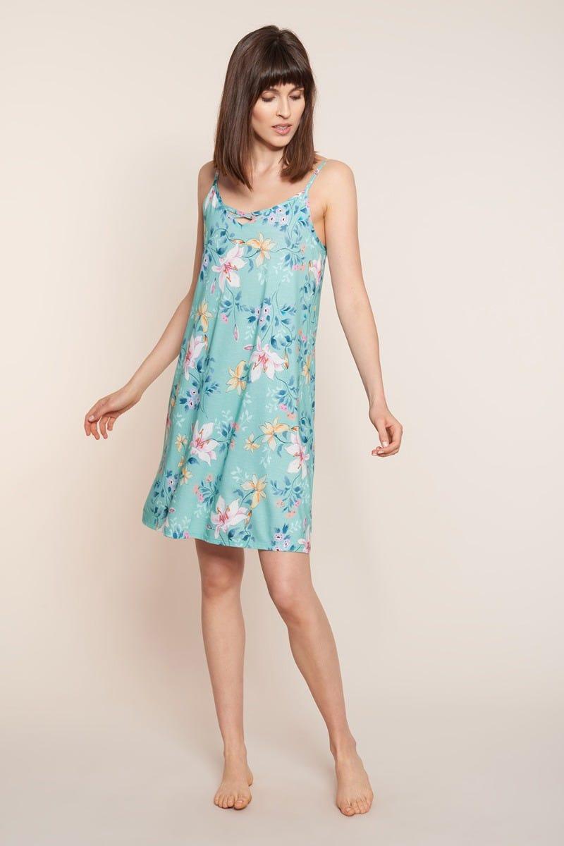 Trägerkleid im Blumendessin Allover geblümt sommerlich Baumwolle/Modal 1213083