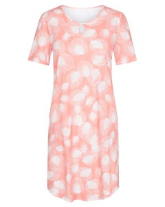 Bigshirt im Blätterdruck grafisch soft pastellfarben 100% Baumwolle 1213090