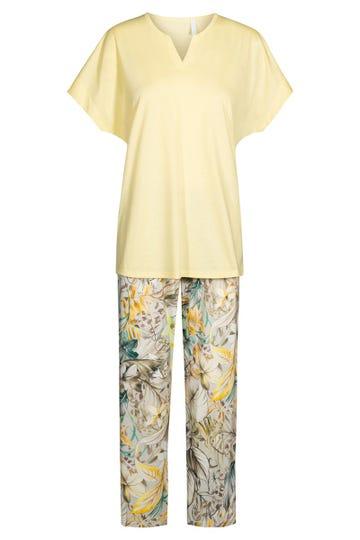 Pyjama mit sommerlichen Blütendruck floral Baumwolle/Modal 1213104