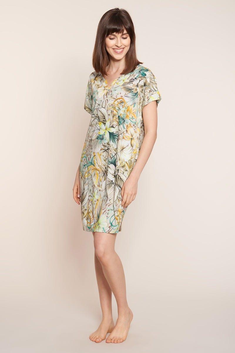 Bigshirt im sommerlichen Blütendruck floral Baumwolle/Modal 1213105