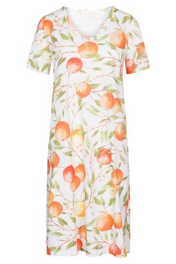 Nachthemd im mediterranen Print Sweet Orange sommerlich 100% Baumwolle 1213110