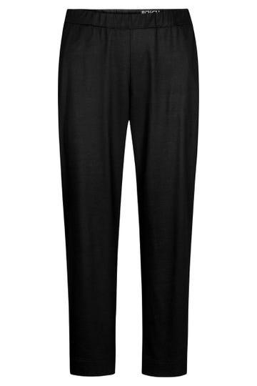 Basic 7/8-Hose in Schwarz Uni Große Größen Baumwolle/Modal 1213125