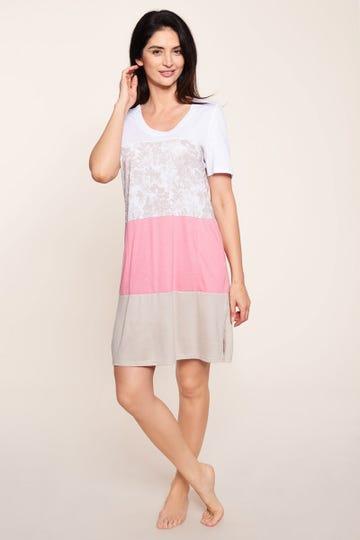Bigshirt im pastellfarbenen Colourblocking-Style harmonisch sommerlich Baumwolle/Modal 1213131