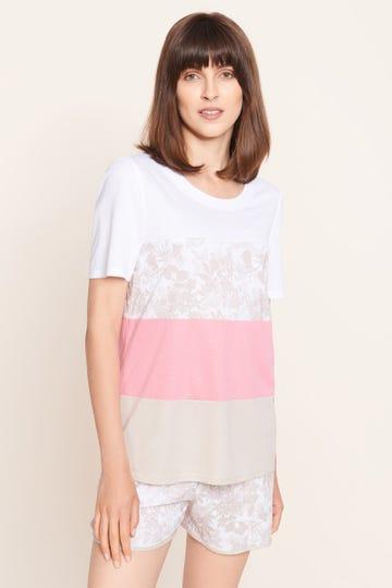 Shirt im pastellfarbenen Colourblocking-Style harmonisch sommerlich Baumwolle/Modal 1213135