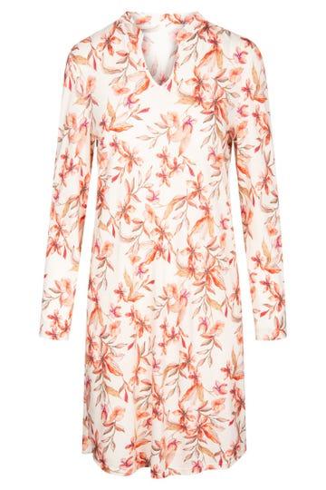 Bigshirt im Blütendruck Allover floral verspielt Baumwolle/Modal