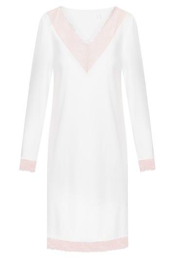 Bigshirt mit feinen Spitzendetails Pastellfarben romantisch Baumwolle