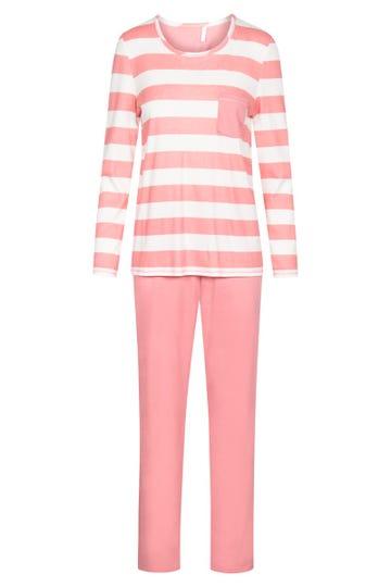 Pyjama mit Streifenprint Blockstreifen lässig sportiv 100% Baumwolle