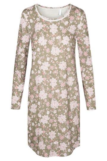 Bigshirt im Ornamental-Flowerprint geblümt verspielt 100 % Baumwolle