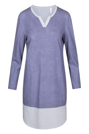 Bigshirt im Mustermix minimalistische Tupfen-Streifen sportiv 100% Baumwolle