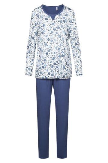 Pyjama mit Blütendruck Liberty Flower romantisch 100% Baumwolle