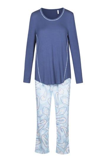 Pyjama mit modernem Paisley-Print sportiv 100% Baumwolle