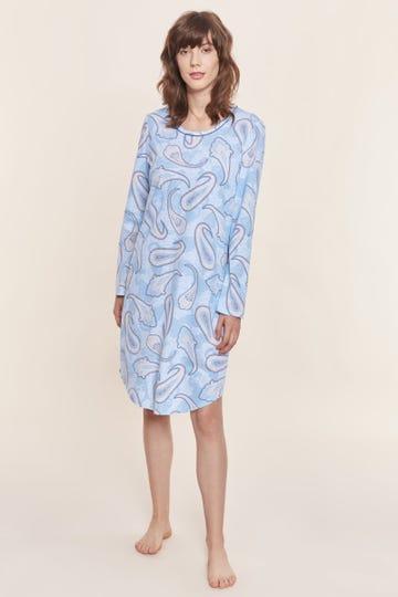 Bigshirt im modernen Paisley-Print Artprint 100% Baumwolle