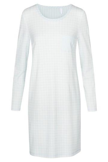 Bigshirt im pastellfarbenen Karo-Druck Brusttasche 100% Baumwolle