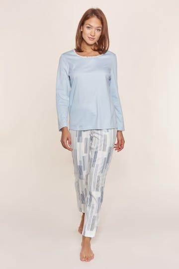 Pyjama mit modernen Streifenprint Artprint 100% Baumwolle