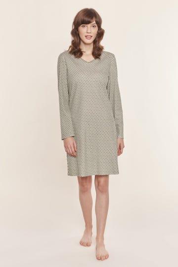 Bigshirt im Grafikdruck Olivgrün 100% Baumwolle