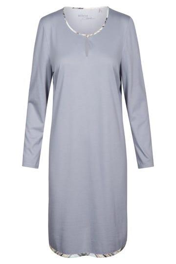 Bigshirt mit Paspeldetails im Karodruck Baumwolle/Modal Große Größen bis 54