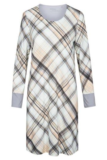 Bigshirt im Karodruck grafisch Baumwolle/Modal Große Größen bis 54