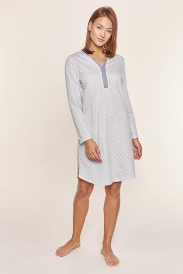 Bigshirt im pastellfarbenen Karodruck grafisch Baumwolle/Modal Große Größen bis 54