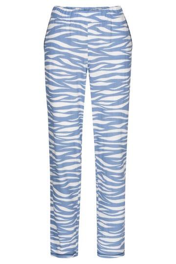 Pyjamahose lang im Wellenprint maritim Mix & Match Baumwolle/Modal