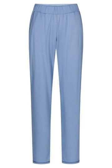 Pyjamahose mit Galonstreifen Hellblau sportiv Mix & Match Baumwolle/Modal