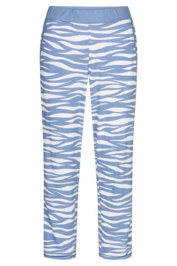7/8-Pyjamahose im Wellenprint maritim Mix & Match Baumwolle/Modal